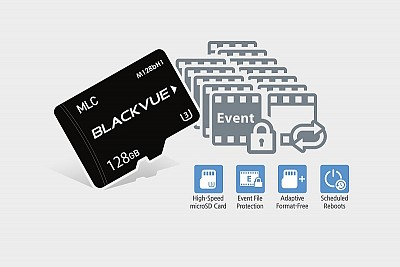 Blackvue MicroSD cards features small