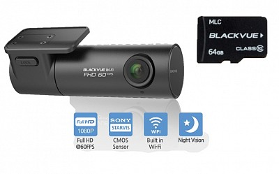 Blackvue DR590W-1CH Full HD Dash cam 60FPS | 64GB Card | Wifi smartphone connection