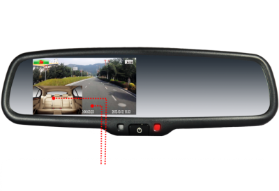 1080P HD OEM Mirror Dash Cam with Dual camera input and reverse camera
