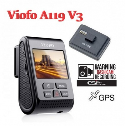 Viofo A119 V3 Dash cam with GPS Logger