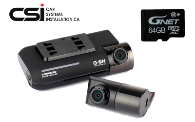 GNET G-ON 64GB 2CH FHD Dash cam | 60FPS | 160 angle | GPS | WiFi | Cloud | HDR | Parking mode